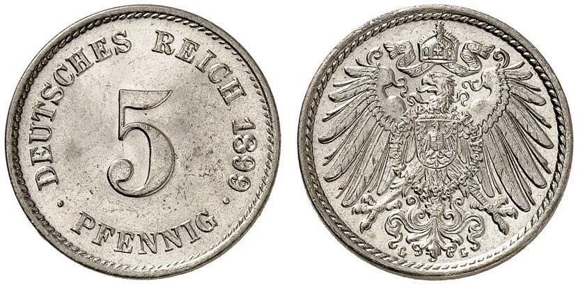 DE 5 Pfennig 1899 G