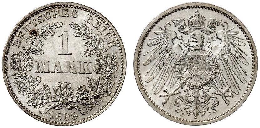 DE 1 Mark 1899 J