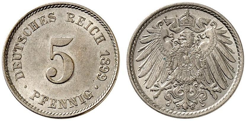 DE 5 Pfennig 1899 J