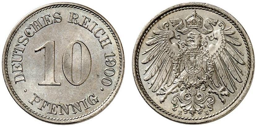 DE 10 Pfennig 1900 E
