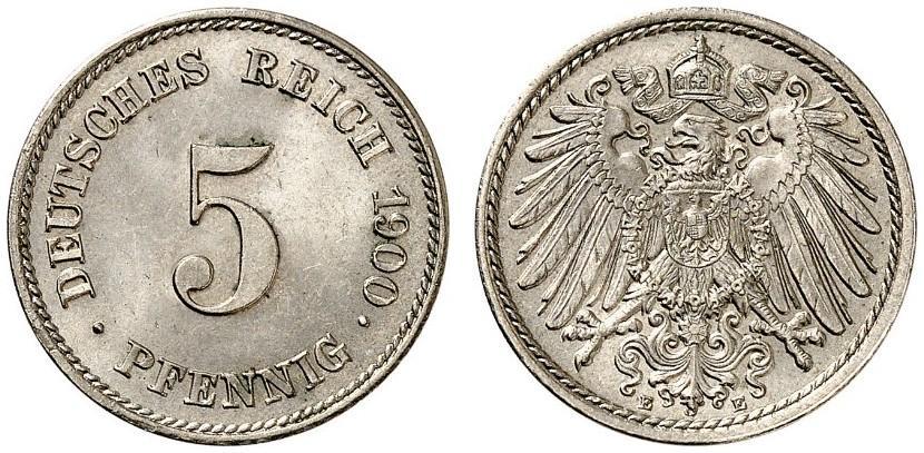 DE 5 Pfennig 1900 E