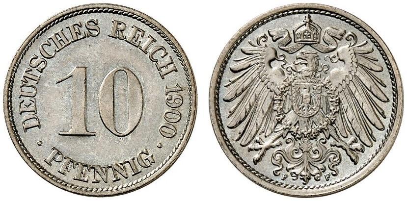 DE 10 Pfennig 1900 F