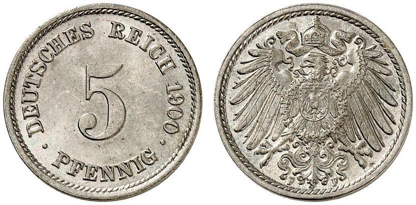 DE 5 Pfennig 1900 F