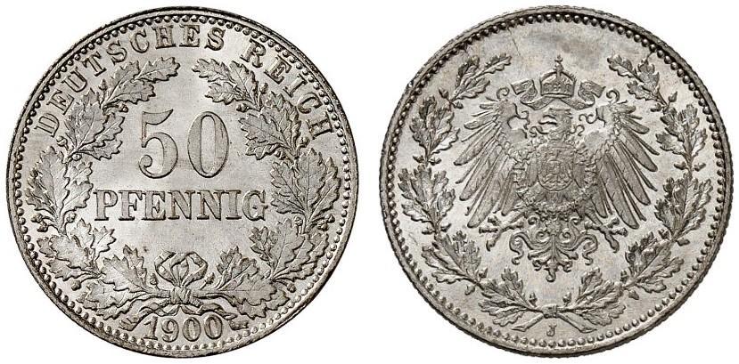 DE 50 Pfennig 1900 J