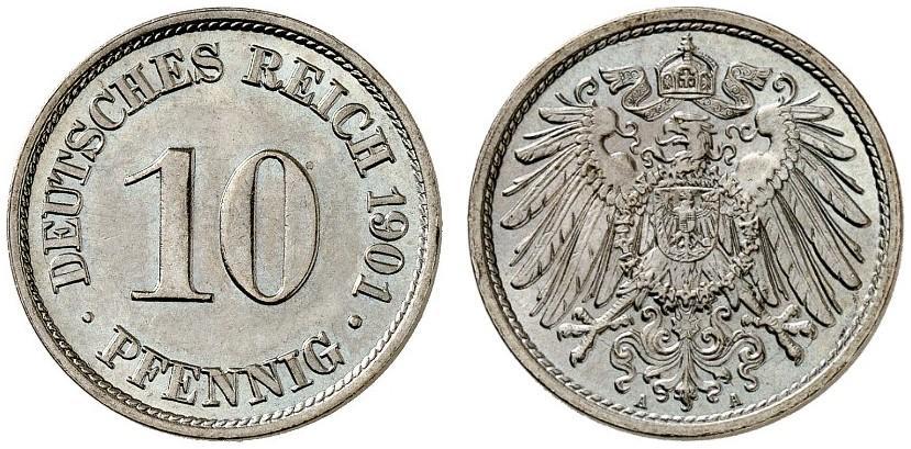 DE 10 Pfennig 1901 A