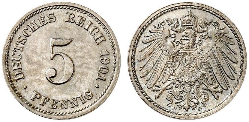 DE 5 Pfennig 1901 D