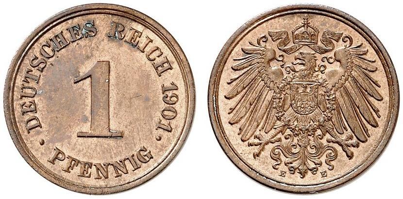 DE 1 Pfennig 1901 E