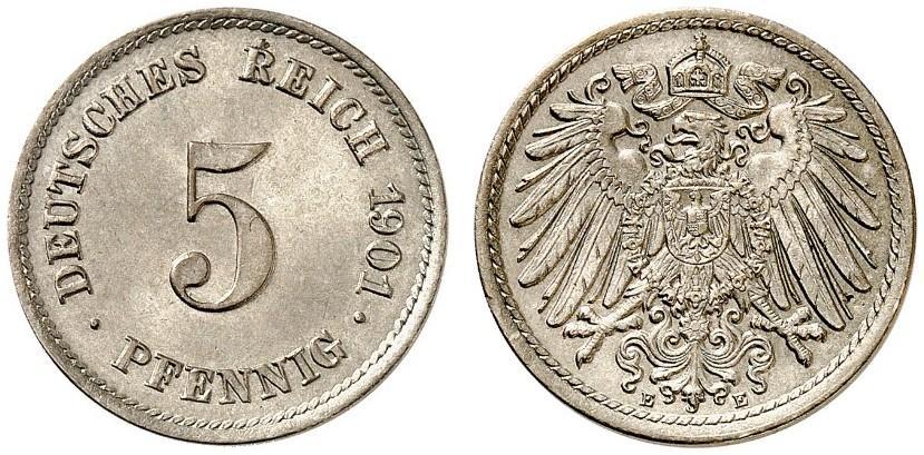 DE 5 Pfennig 1901 E