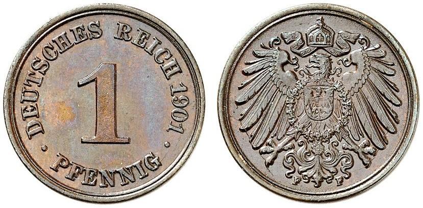 DE 1 Pfennig 1901 F