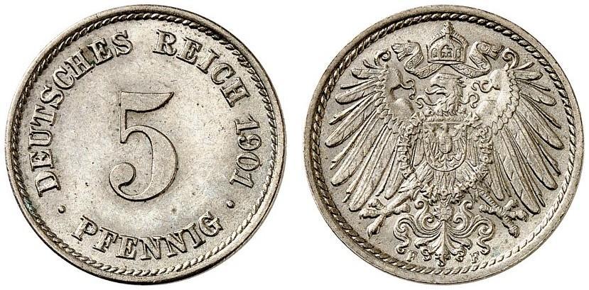 DE 5 Pfennig 1901 F