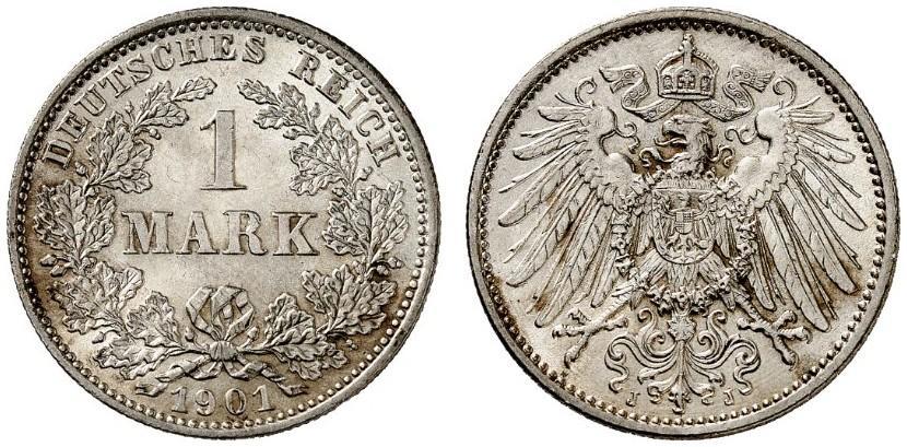 DE 1 Mark 1901 J