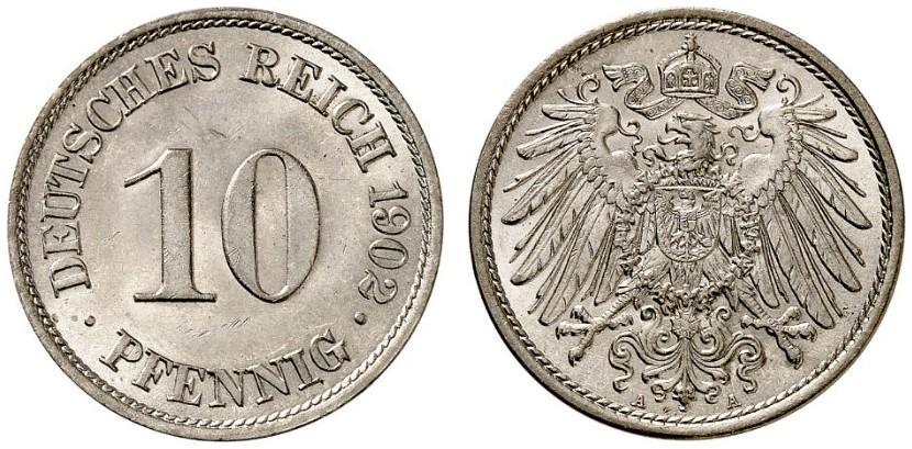 DE 10 Pfennig 1902 A