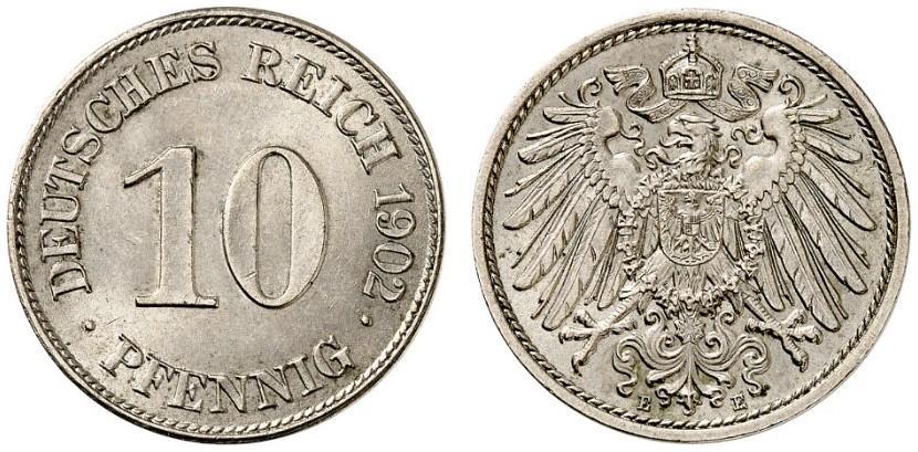 DE 10 Pfennig 1902 E