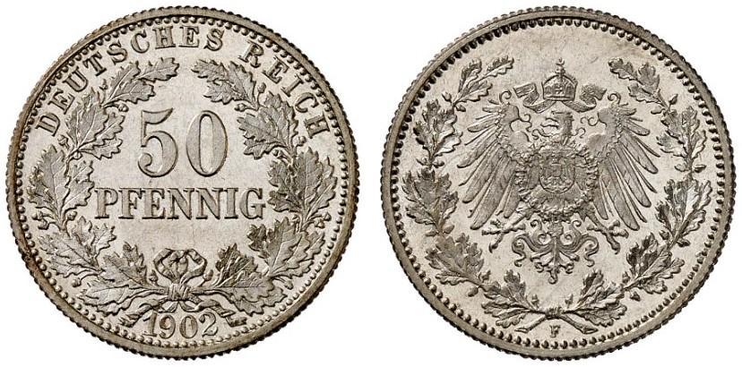 DE 50 Pfennig 1902 F