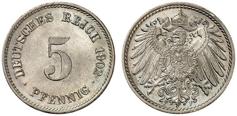DE 5 Pfennig 1902 F