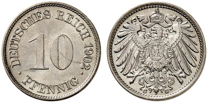 DE 10 Pfennig 1902 G