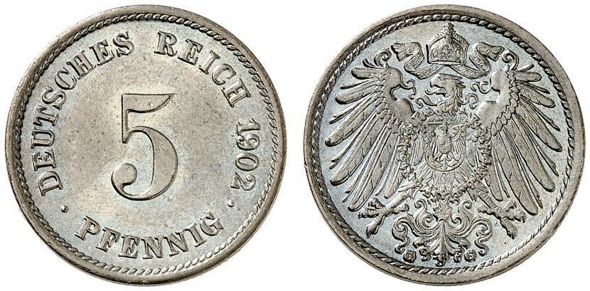 DE 5 Pfennig 1902 G