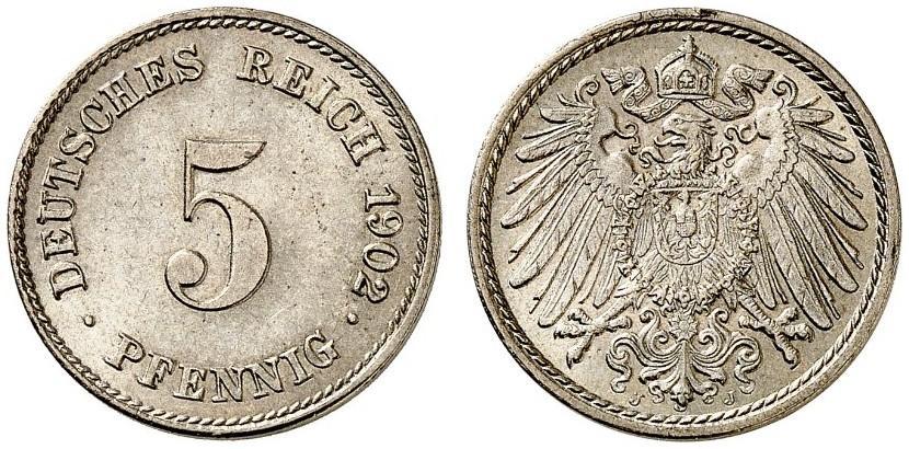 DE 5 Pfennig 1902 J