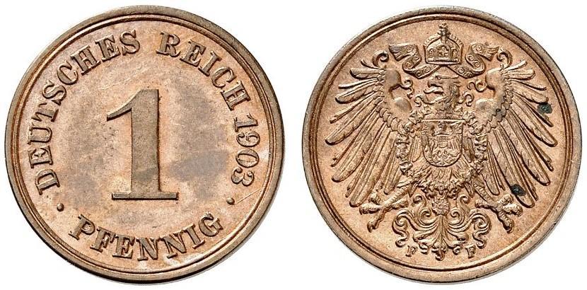 DE 1 Pfennig 1903 F
