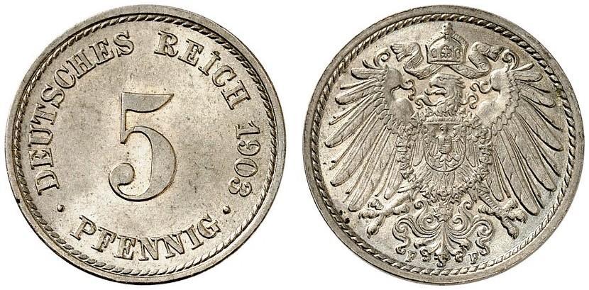 DE 5 Pfennig 1903 F