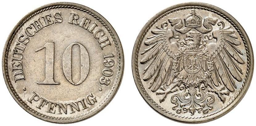 DE 10 Pfennig 1903 G