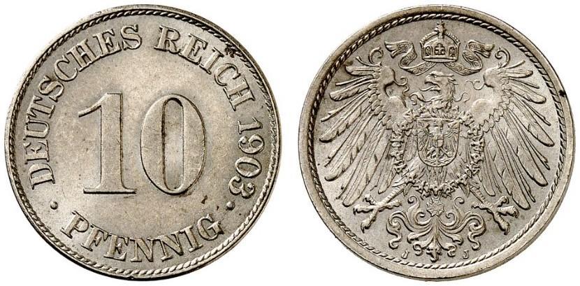 DE 10 Pfennig 1903 J