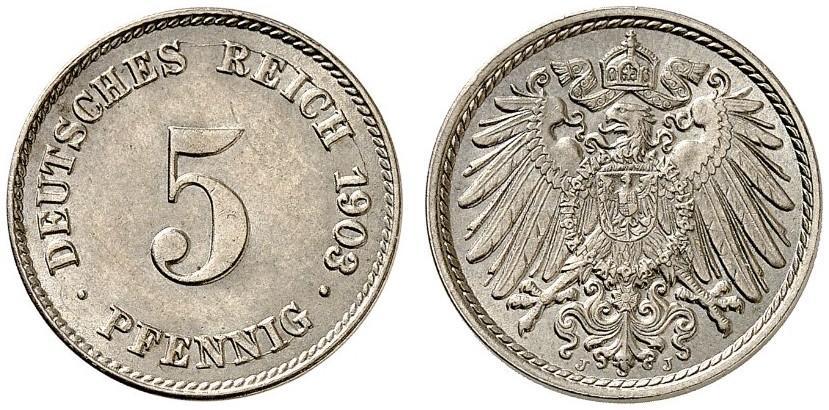 DE 5 Pfennig 1903 J