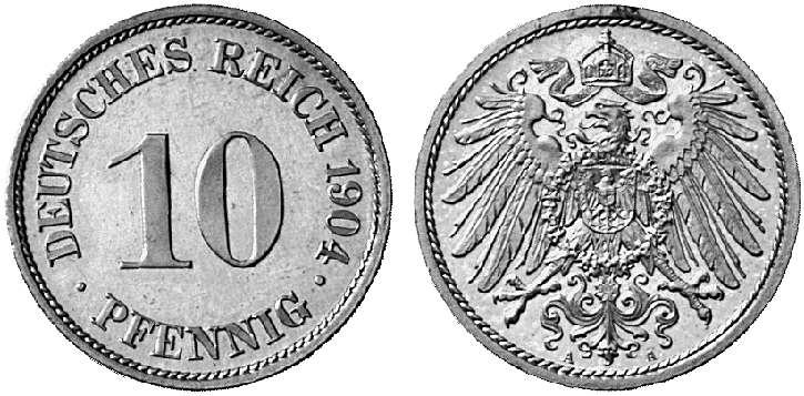 DE 10 Pfennig 1904 A