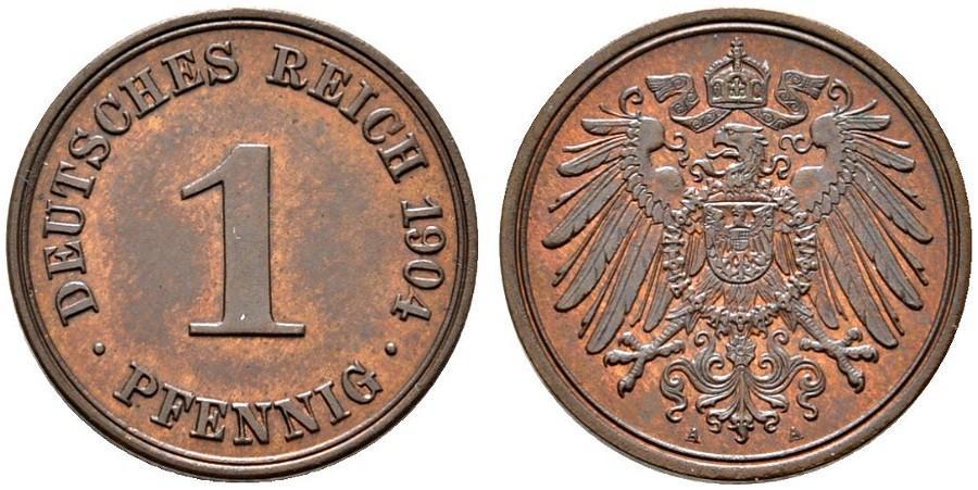 DE 1 Pfennig 1904 A