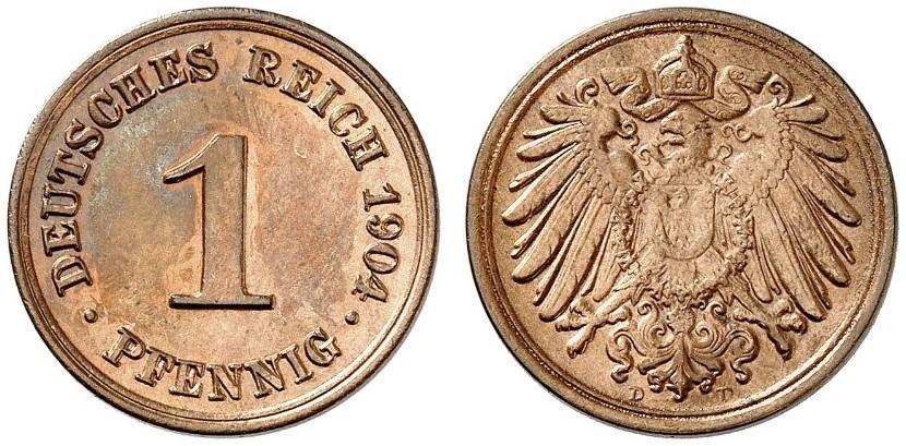 DE 1 Pfennig 1904 D