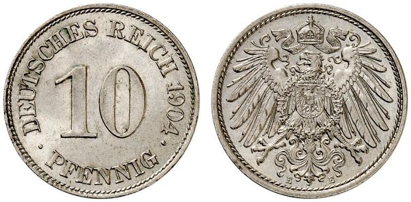 DE 10 Pfennig 1904 E