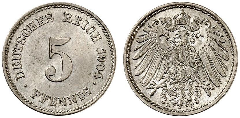 DE 5 Pfennig 1904 E