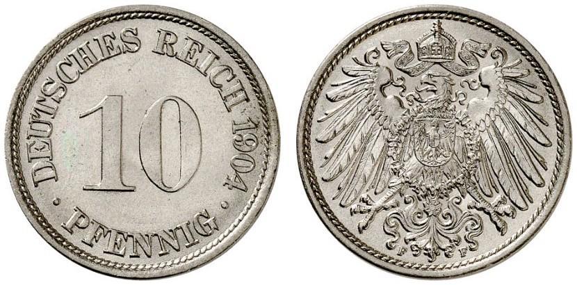 DE 10 Pfennig 1904 F