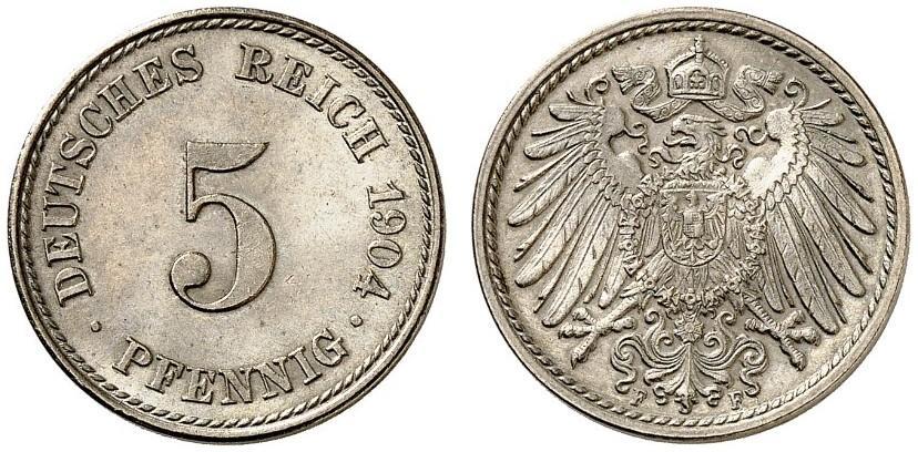 DE 5 Pfennig 1904 F