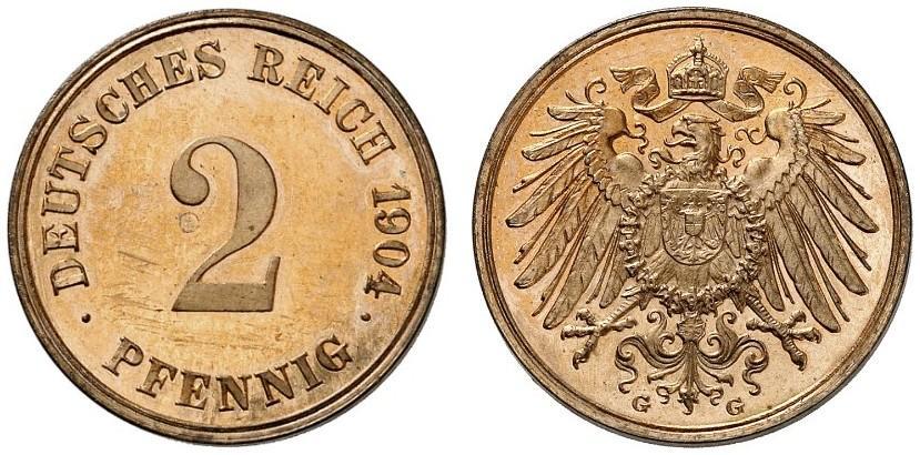 DE 2 Pfennig 1904 G