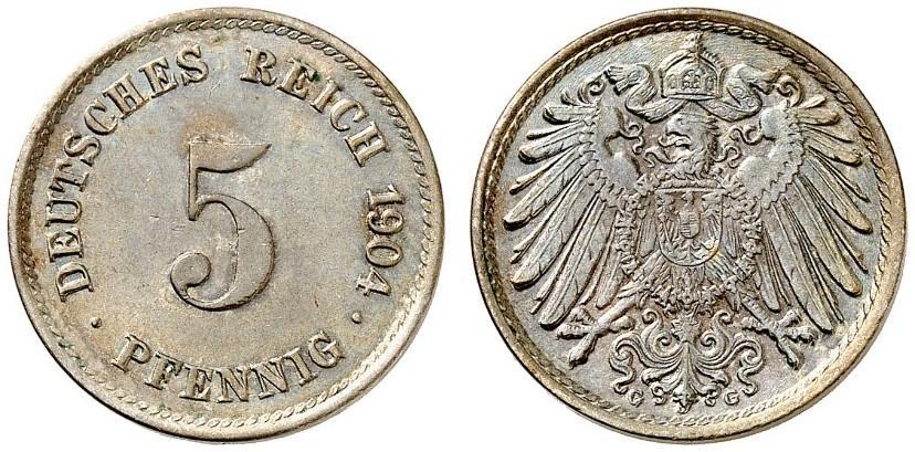 DE 5 Pfennig 1904 G