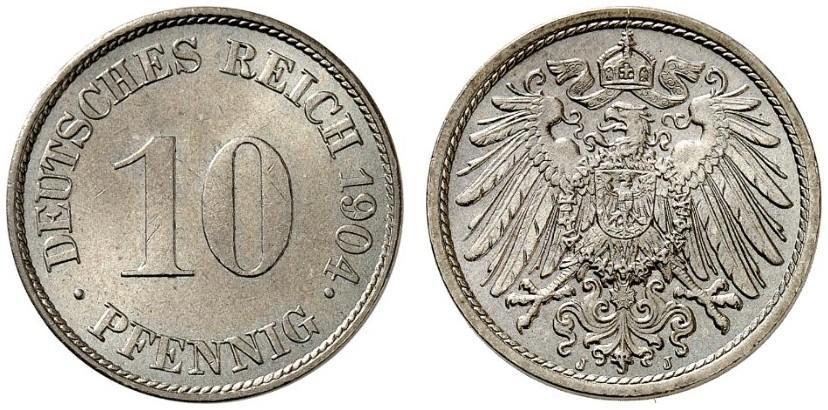 DE 10 Pfennig 1904 J