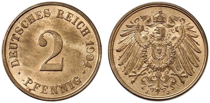 DE 2 Pfennig 1904 J
