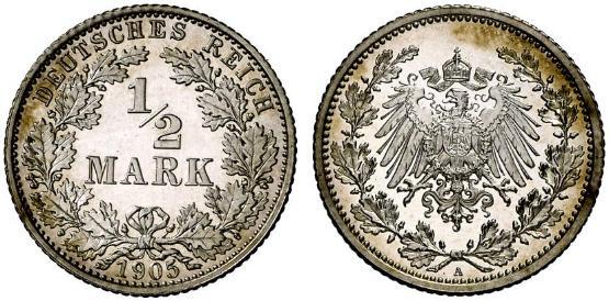 DE 1/2 Mark 1905 A