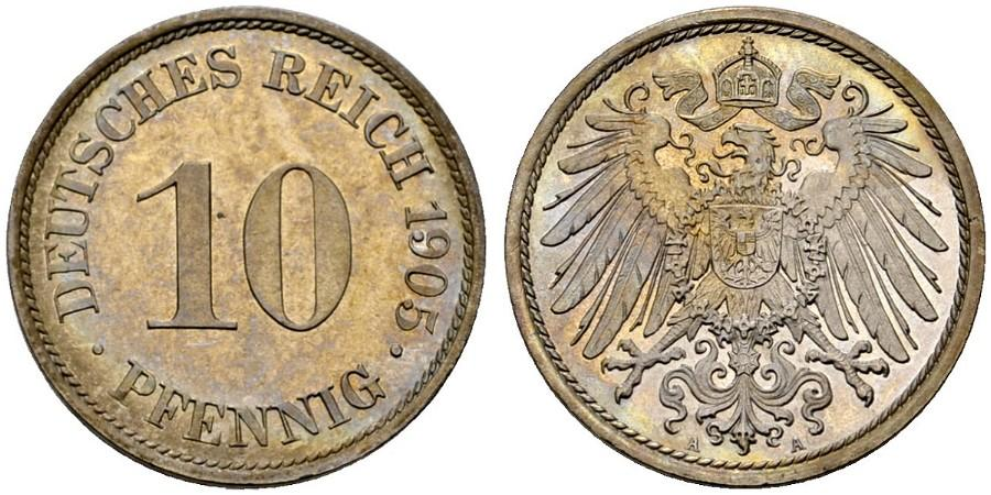 DE 10 Pfennig 1905 A