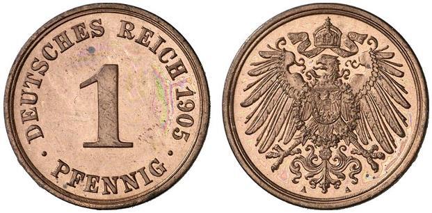 DE 1 Pfennig 1905 A