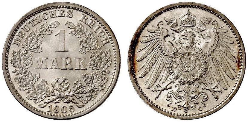 DE 1 Mark 1905 D