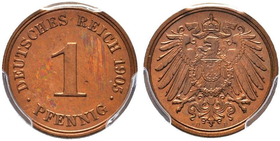 DE 1 Pfennig 1905 D