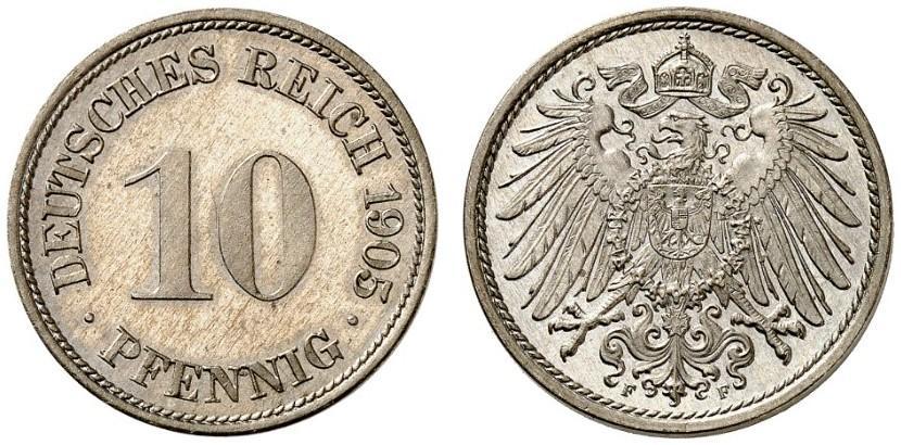DE 10 Pfennig 1905 F