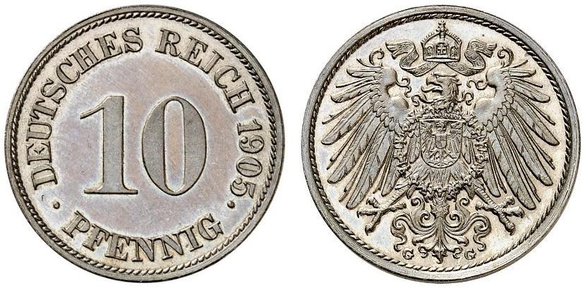 DE 10 Pfennig 1905 G