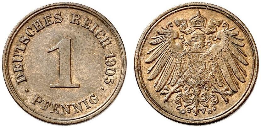 DE 1 Pfennig 1905 G