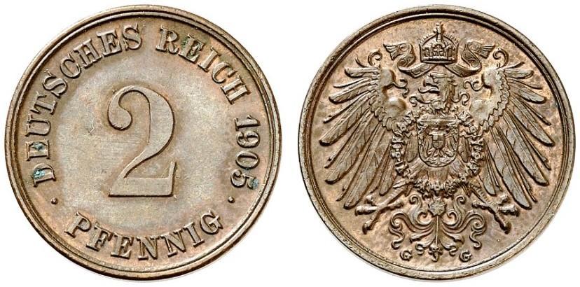 DE 2 Pfennig 1905 G