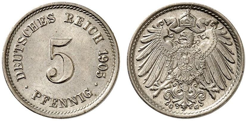 DE 5 Pfennig 1905 G