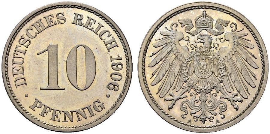 DE 10 Pfennig 1906 A
