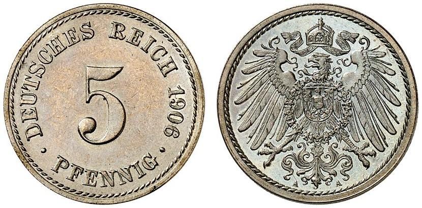 DE 5 Pfennig 1906 A
